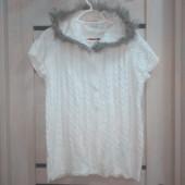 Распродажа! Лоты от 29грн! Много лотов! Универсальная, белоснежная, фирменная кофта с мехом!