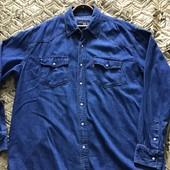 Джинсовая рубашка!Редкий размер 60/62