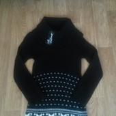 Шикарное новое вязаное платьице на 9-12 л