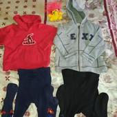 Худи кофта и колготы на мальчика 3-5лет
