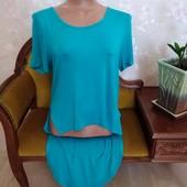 Красивая женская блуза оригинального кроя, размер м