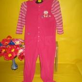 Флисовый детский комбинезон слип пижама на 5-6 лет !!!!!!!!!
