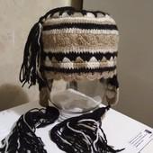 Обалденная эксклюзивная, оригинальная шапка 100% шерсть!