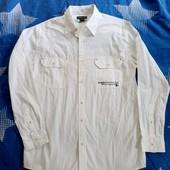 Рубашка мужская от французкого бренда Atlas for Men.Размер М ворот 40см.