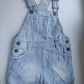 Класнючий джинсовый комбез на девочку, возраст 3-4 года в хорошем состоянии