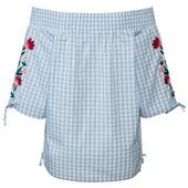 Женственная блуза в стиле кармен с вышивкой, Esmara. Размер евро 40