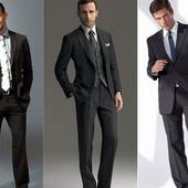 ❤️Классические фирменные мужские брюки тонкая костюмная шерсть Leo prairie xl для крупного мужчины