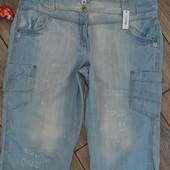 """Фирменные джинсовые шорты """"George.""""Сток Люкс р-р 48"""