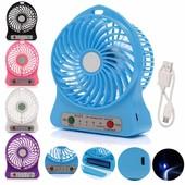 ✅Портативный настольный вентилятор Portable Fan Mini F 95 со съемным аккумулятором