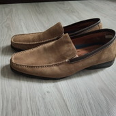 Фирменные мужские туфли-макасины из натуральной замши р.8,5 на ногу 27-27,5см в отличном состоянии