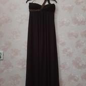 Стильное вечернее платье шоколадного цвета ! УП скидка-10%
