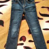 Фирменные джинсы скинны, девочке 3-4 лет, замеры