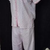 Нежная лёгенькая фактурная пижамка,100%коттон,s/m