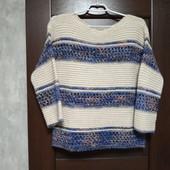 Фирменный красивый свитерок р.10-14 оверсайз состав полиэстер шерсть вискоза альпака