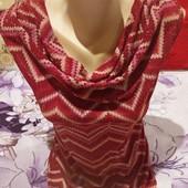 Шикарная бордовая блузка стречь вся переливается золотом. Размер l,xl, xxl Смотрите лотов много