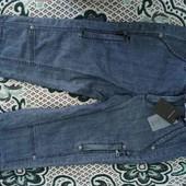 новые фирменные джинсовые капри, наш 42-44,спортивного стиля