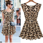 Стильное леопардовое платье под H&M размер s-m