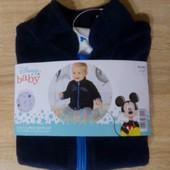 Классная флисовая кофта на мальчика Disney Германия размер 62/68
