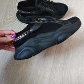 Натуральная КОЖА!!! кроссовки последний размер 37