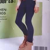 Классные котоновые леггинсы от бренда pepperts Германия.Тоненькие. Размер 122/128, синие