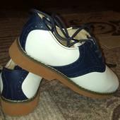 кожаные американские туфли на девочку