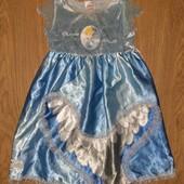 Платье принцессы Золушки снежинки 2-4года