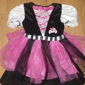 Красивое карнавальное платье на девочку 5-6лет замеры на фото