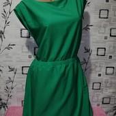 Очень красивое платье шифон насыщенный зеленый цвет