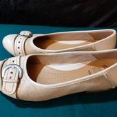 Полностью кожаные балетки Clarks, разм. 5 (25 см ст.) Сост. отличное!