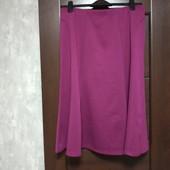 Фирменная новая трикотажная красивая юбка р.16-20 полиэстер вискоза эластан