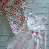 Одним лотом, платье и боди на девочку 3-6 месяцев