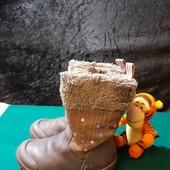 Кожаные деми сапоги Clarks, ориг. Вьетнам, разм. 26 (15,5 см по бирке, реально 16,5 см внутри).