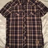 Рубашка в клеточку на кнопках S