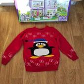 Не пропустите!Шикарный свитерок с пингвином на 7-8 лет
