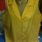 Блузка медового цвета из натурального шёлка на 50-52(укр.)