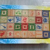 Кубики деревянные Алфавит 28 шт