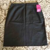 Trutex юбка в школу серая графит прямая на талию 66 см / w 28 длина 51 см 12-13-14-15-16 л новая