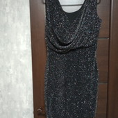 Фирменное красивое блестящее платье в состоянии новой вещи р.14-16