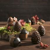Необычный красивый осенний декор из керамики набор 9 шт Melinera