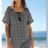 Легкая , стильная пляжная туника- парео оверсайз от Tchibo (германия) размер 44 евро=50-52