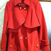 Превосходное пальто Ricco. Качество отличное - шьют на экспорт. 2в1. С шерстью альпака
