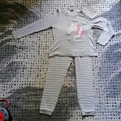 Бомбезная пижама! фирменная Pepco! размер L-XL! хлопок! замеры!