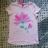Классная фирменная футболка Petals от Рерсо! на 4-5 лет рост 110! хлопок!