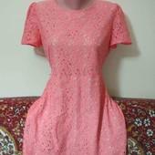 ажурное платье на подкладке пог. 50