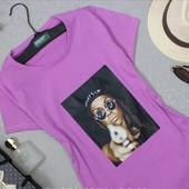Одна на выбор!Модные женские футболки из хлопкового трикотажа с качественным принтом. Читайте замеры