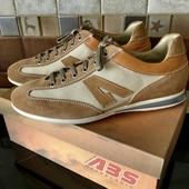 ABS Италия - новые спортивные туфли / натуральная кожа + канвас! Р.43 /стелька 28,3см! Без дефектов!