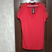 Фирменное новое трикотажное вискозное платье-туничка р.8-12