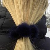 Меховый браслет, резинка для волос с натуральным мехом, лот 1шт.