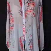 Лёгенькая фирменная блузочка с люрексом, грудь-120