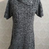 Вязание теплое платье размер М замеры на фото